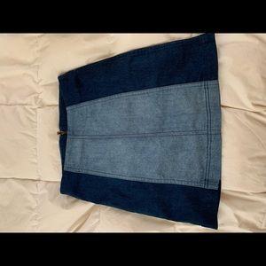 Free People Modern Femme Denim Skirt